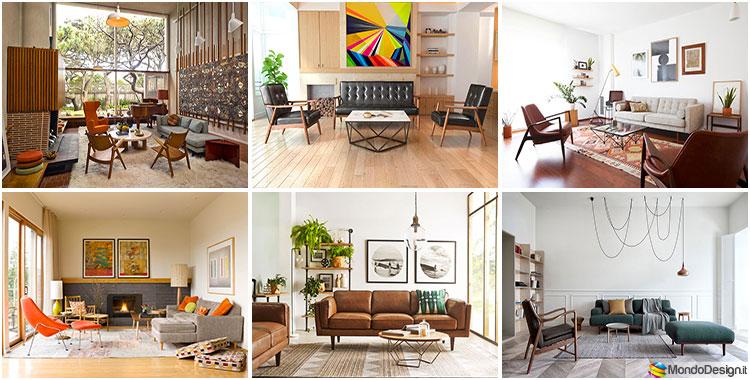 Salotto vintage anni 39 50 tante idee di arredamento stile for Idee per tinteggiare il salotto