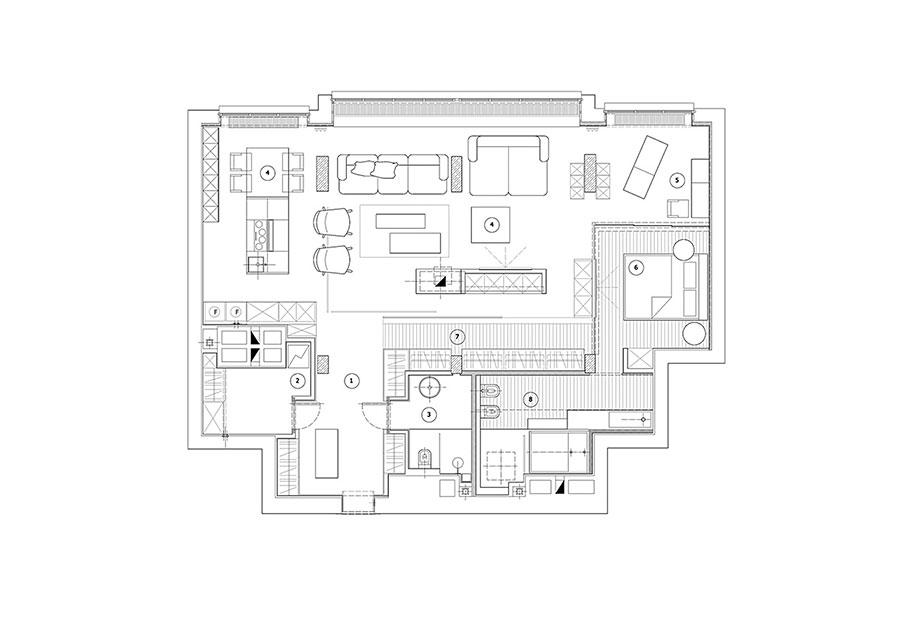 Progetto per una casa di 130 mq n.01