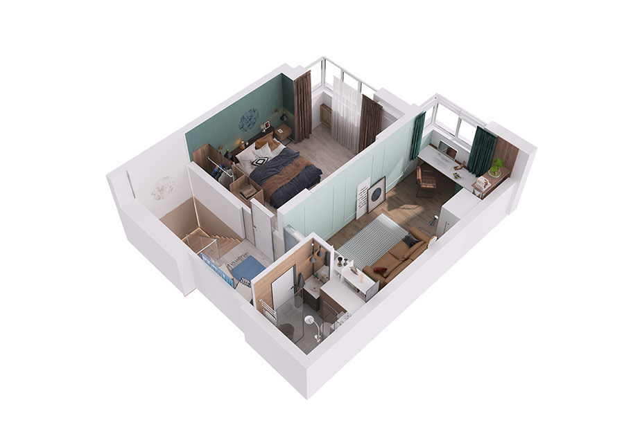 Progetto per una casa di 130 mq n.35