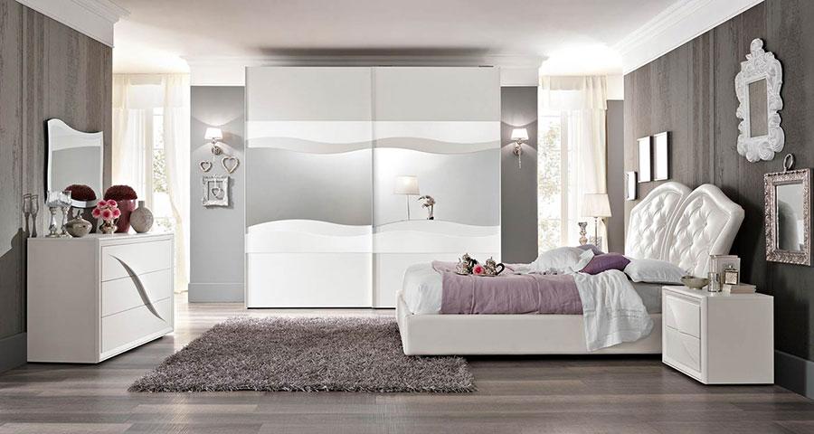 20 Idee per Arredare una Camera da Letto Bianca e Grigia ...
