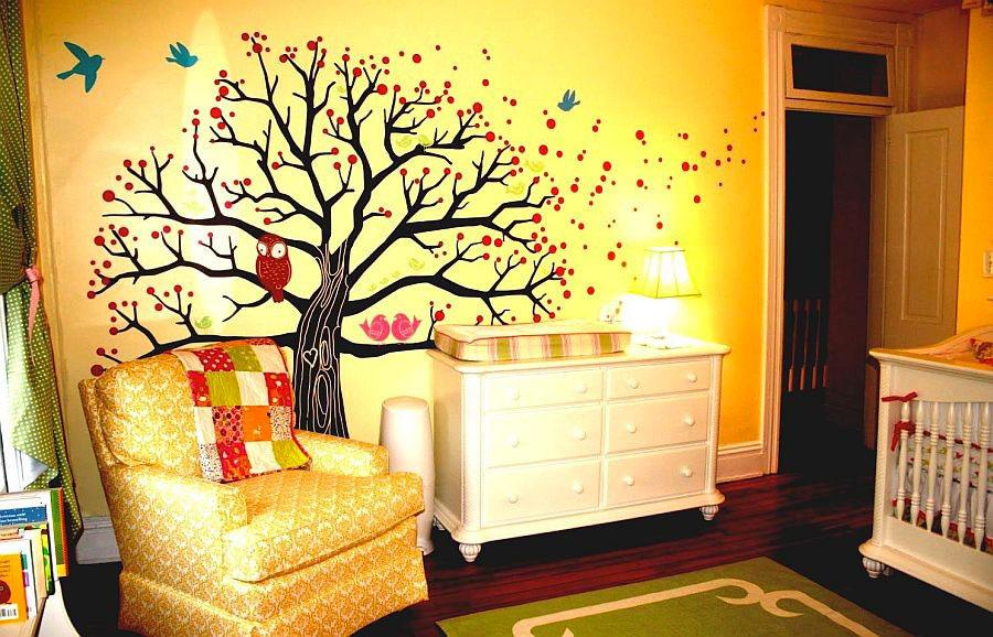 Idee per camerette con pareti gialle n.2