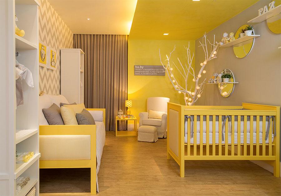 Idee per camerette con pareti gialle n.3