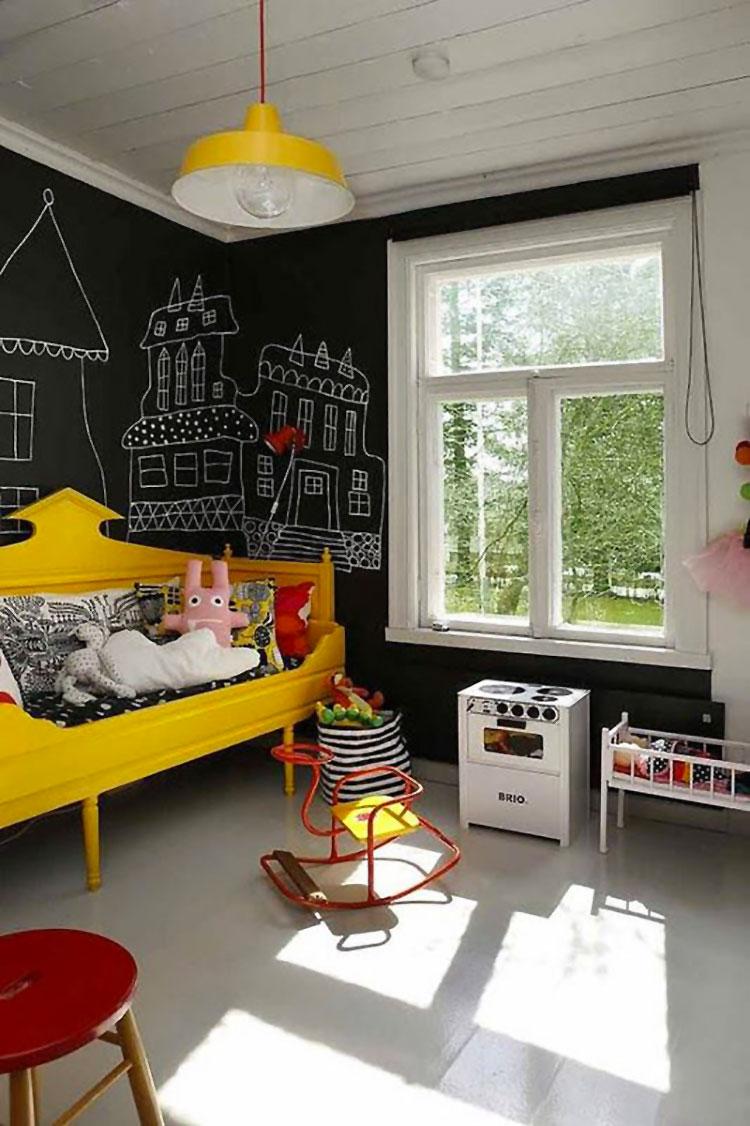 Idee per camerette con pareti lavagna n.1