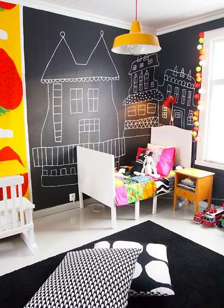 Idee per camerette con pareti lavagna n.2
