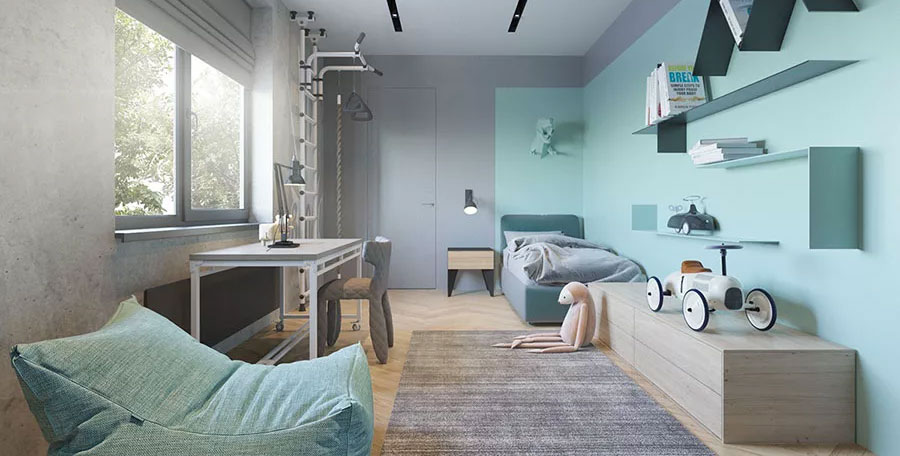 Idee colori pareti camerette