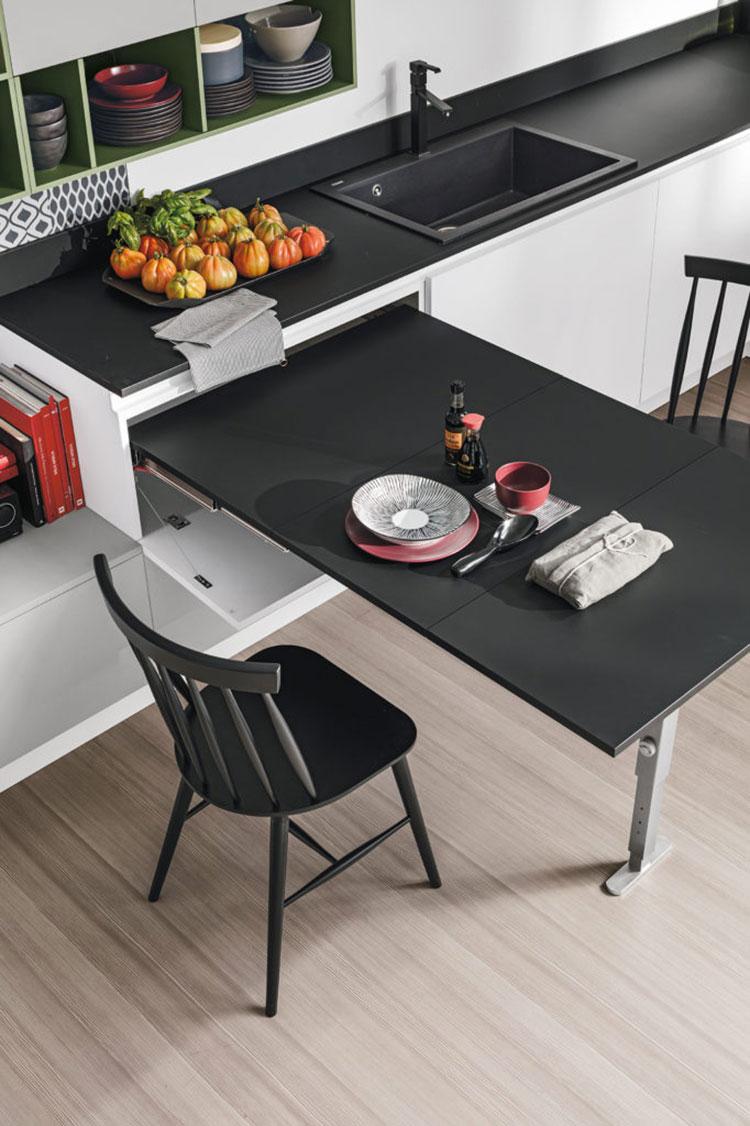 Cucina con tavolo a scomparsa n.01