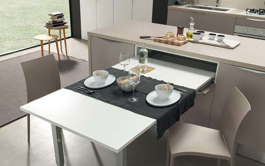 Cucina con tavolo a scomparsa n.03