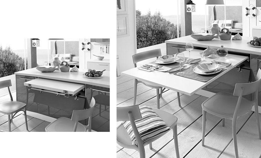 Cucina con tavolo a scomparsa n.05