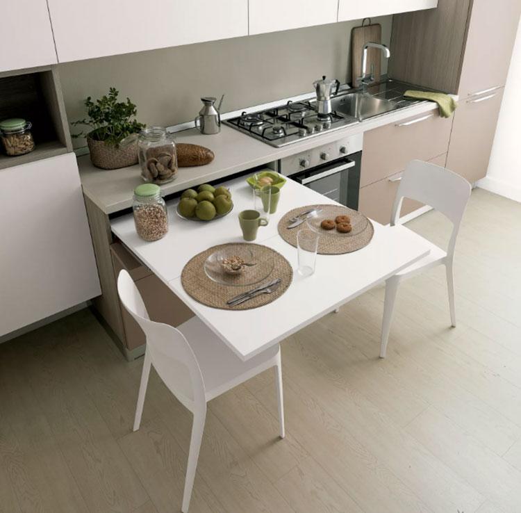 20 cucine con tavolo estraibile a scomparsa - Tavolo roma leroy merlin ...