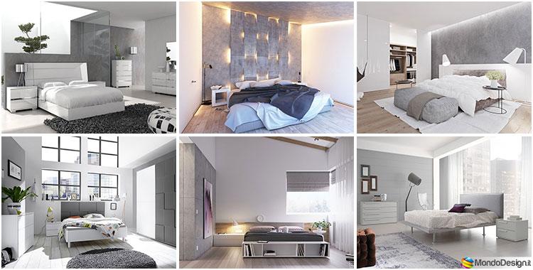 20 idee per arredare una camera da letto bianca e grigia for Idee x arredare