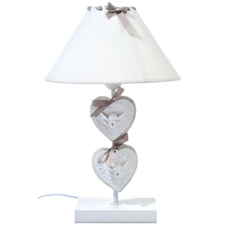 Modello di lampada da tavolo shabby chic n.24