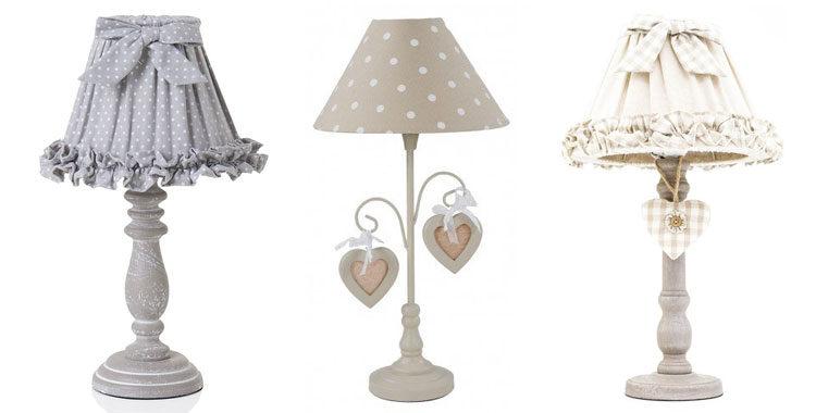 25 fantastiche lampade da tavolo shabby chic for Lampade shabby chic online