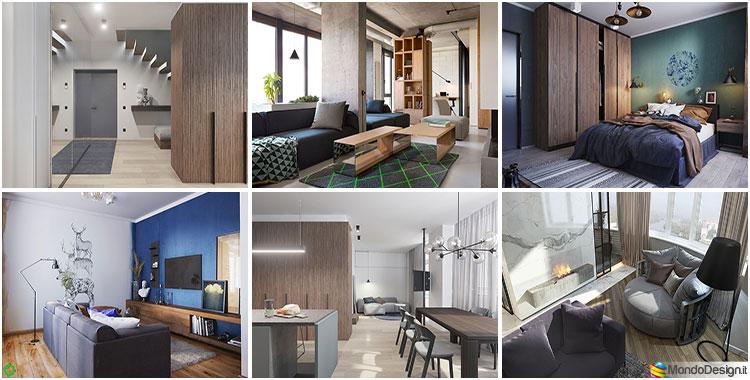 Case Moderne Ad Un Piano : Progetti per case di mq idee di design per arredi e divisioni