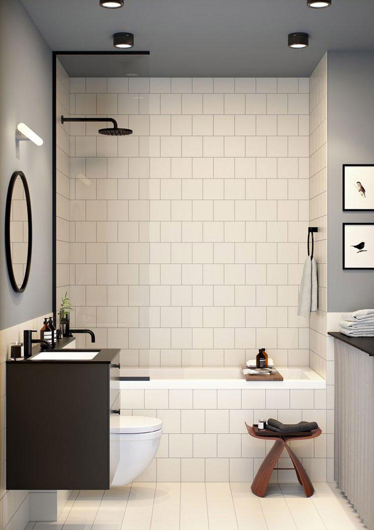 Idee per arredare un bagno piccolo n.02