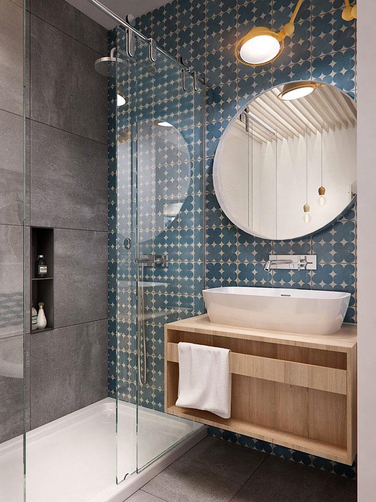 Idee per arredare un bagno piccolo n.06