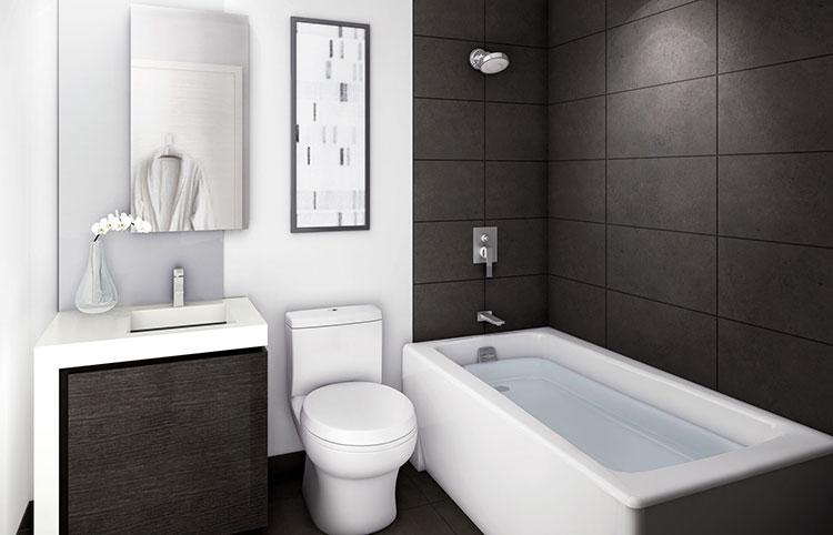 Idee per arredare un bagno piccolo n.09