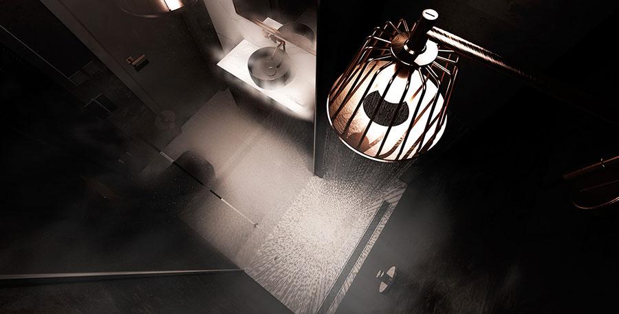 Progetto di bagno nero moderno n.07