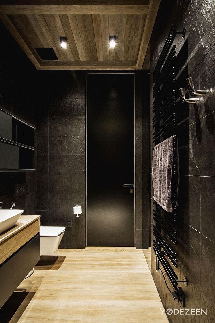 Progetto di bagno nero moderno n.20
