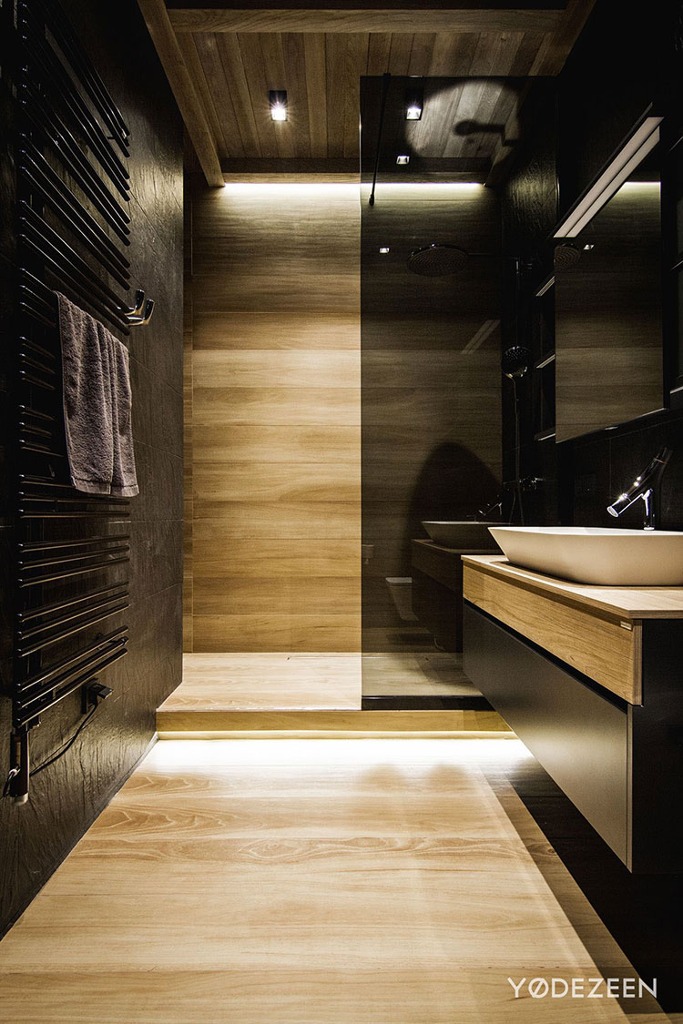 Progetto di bagno nero moderno n.21