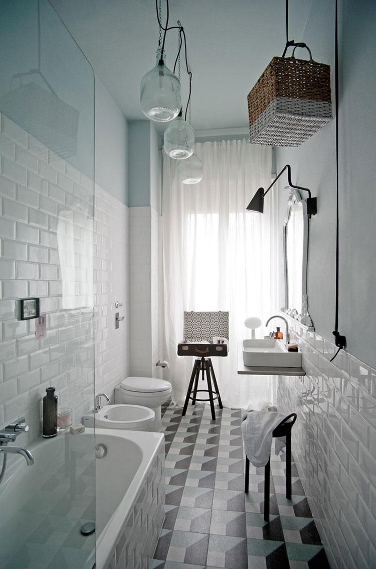 Bagno vintage 20 idee di arredamento originali - Idee per rivestire un bagno ...