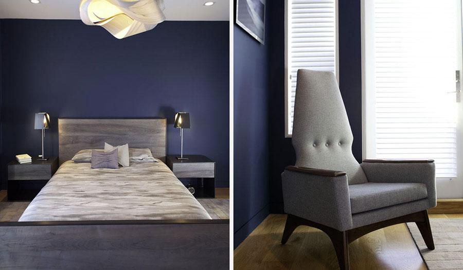 Camera da letto nella sfumatura blu notte n.2