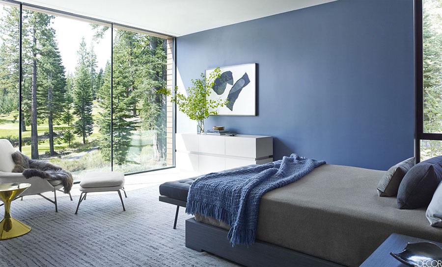 Camera da letto nella sfumatura blu avio n.2