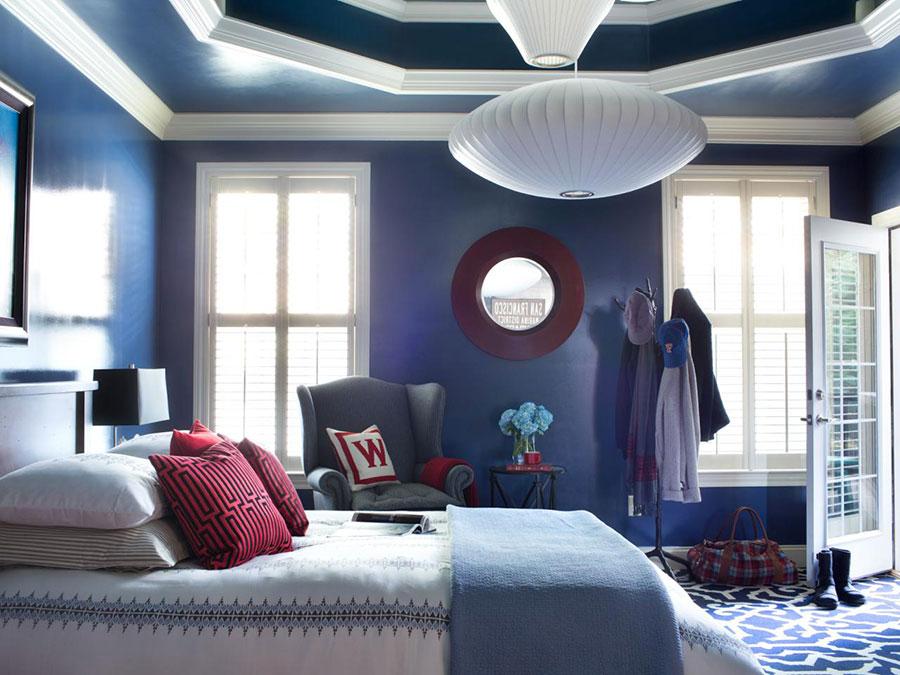 Camera da letto nella sfumatura blu notte n.4