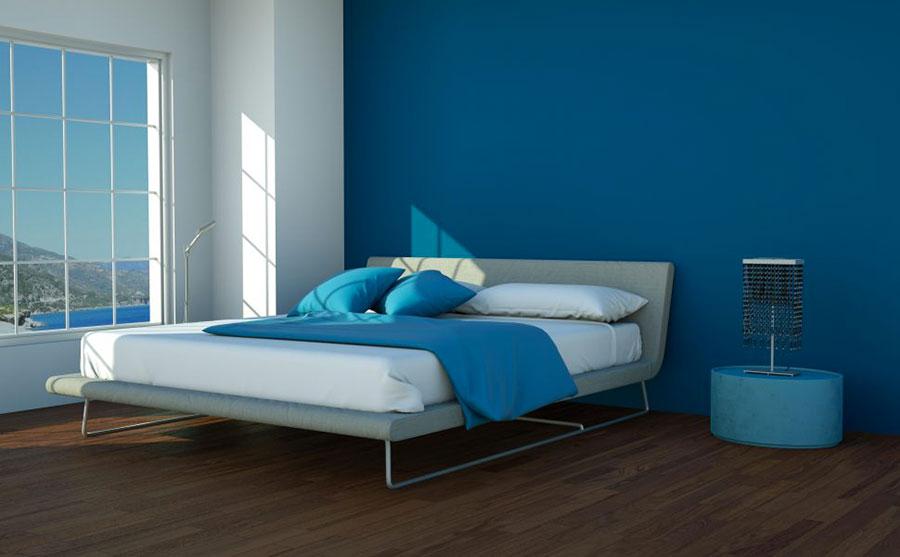 Camera da letto nella sfumatura blu moon n.2