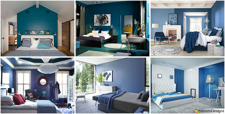 Camere da letto blu tante idee di arredo con diverse for Arredamento originale casa