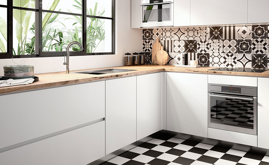 Cementine in cucina: 20 idee per rivestimenti vintage mondodesign.it