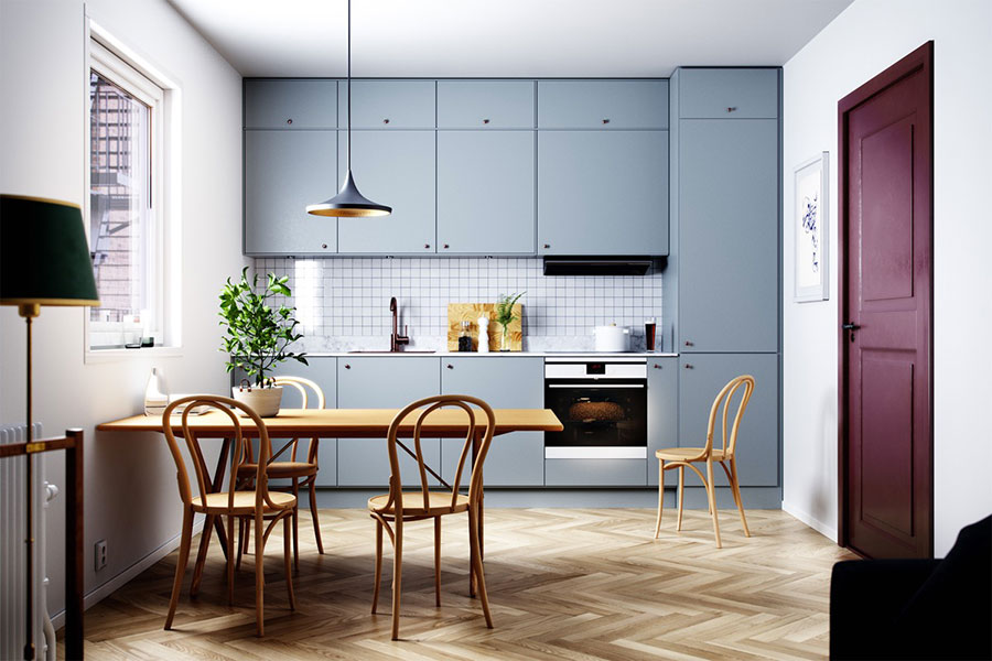 Idee per arredare una cucina blu n.10