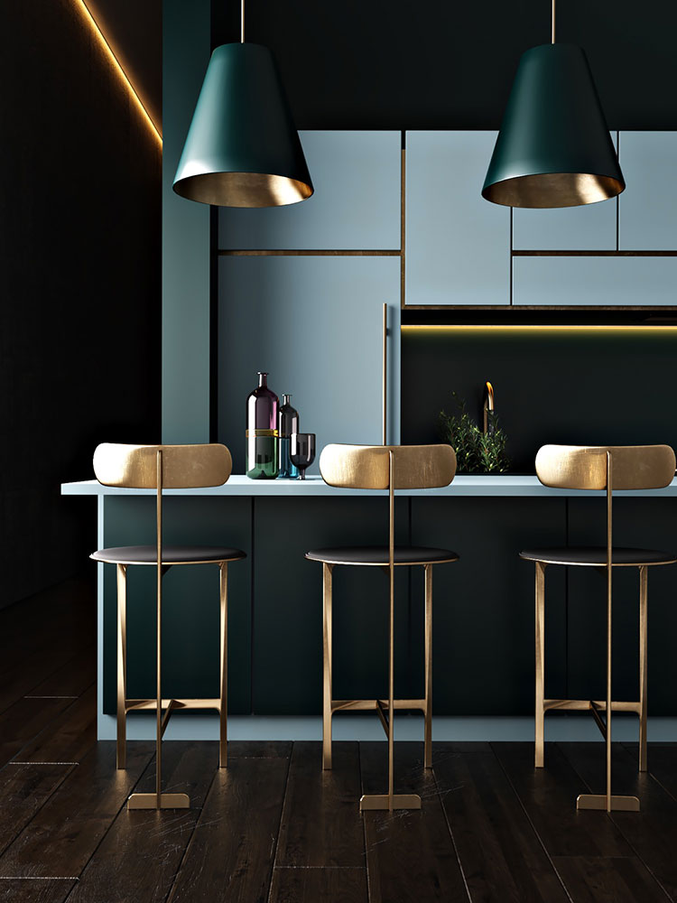 Idee per arredare una cucina blu n.11