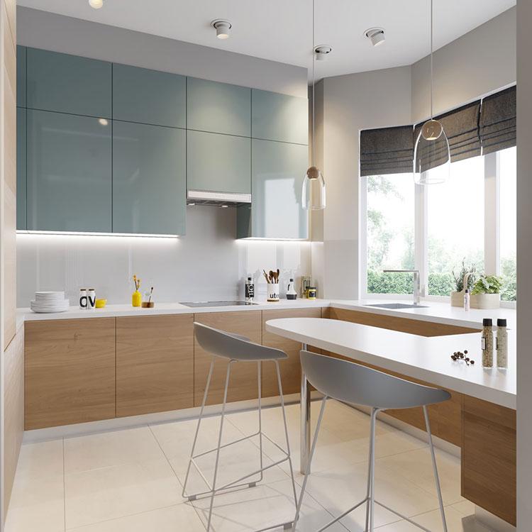Idee per arredare una cucina blu n.12