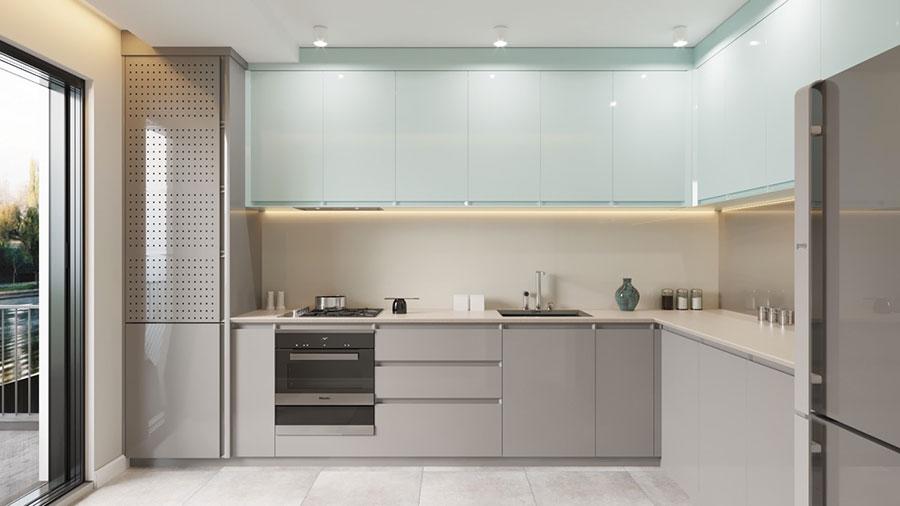 Idee per arredare una cucina blu n.13