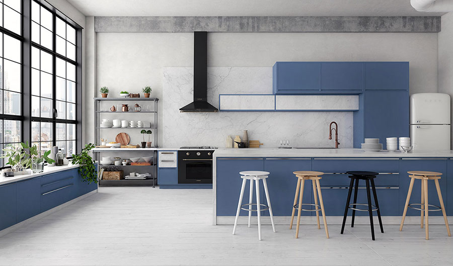 Idee per arredare una cucina blu n.15