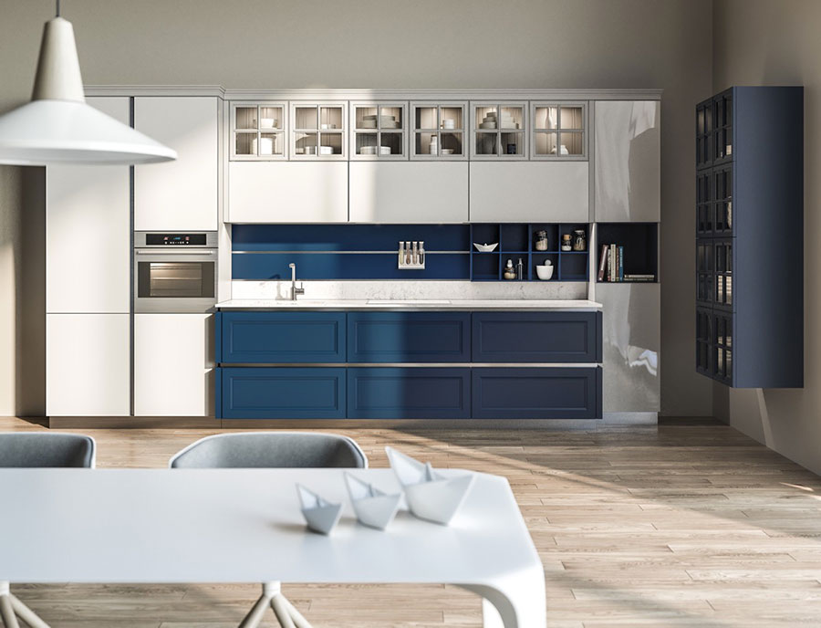 Idee per arredare una cucina blu n.16
