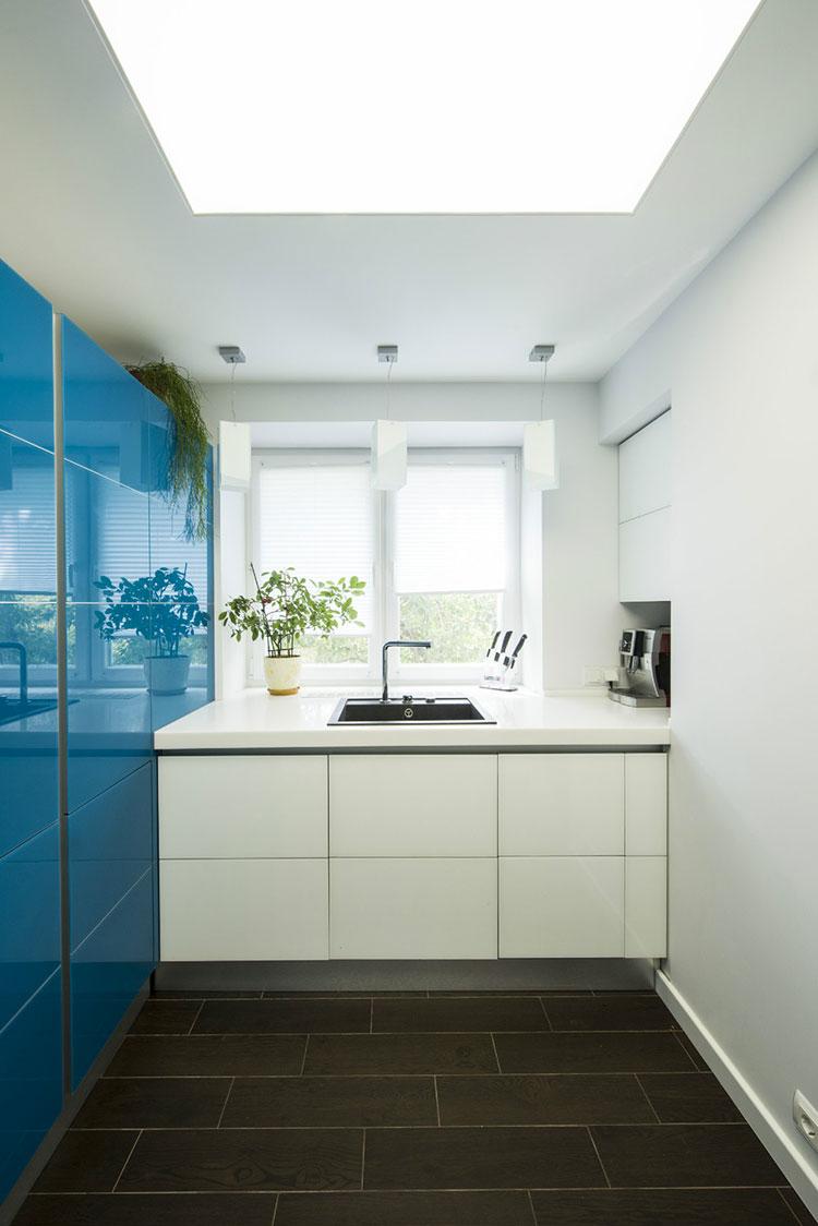 Idee per arredare una cucina blu n.18