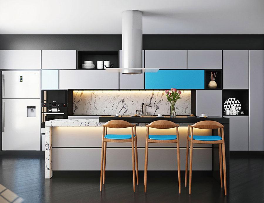 Idee per arredare una cucina blu n.21