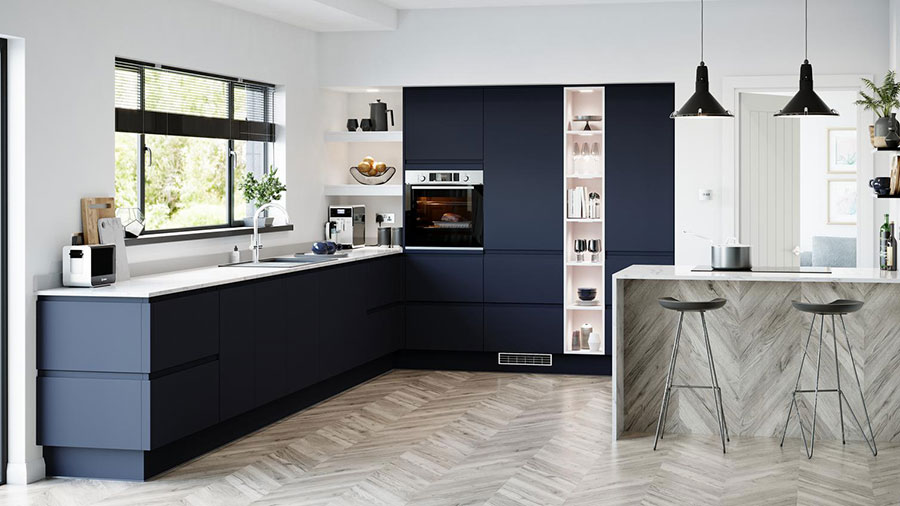 Idee cucina blu e bianca n.01