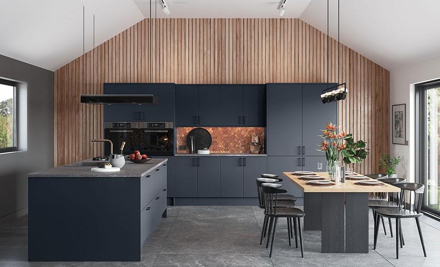 Idee cucina blu scuro n.01
