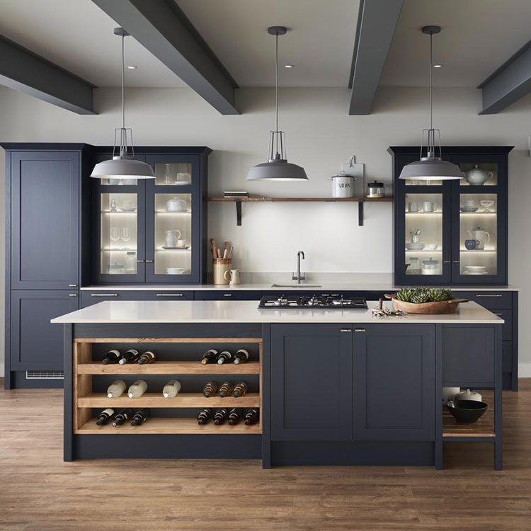 Idee cucina blu scuro n.03