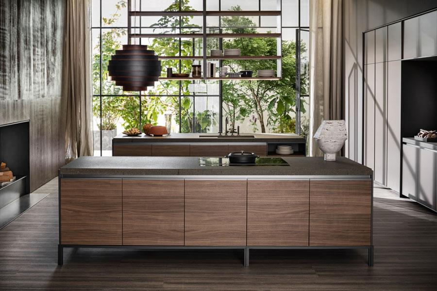 Modello di cucina lineare di design di Dada n.1