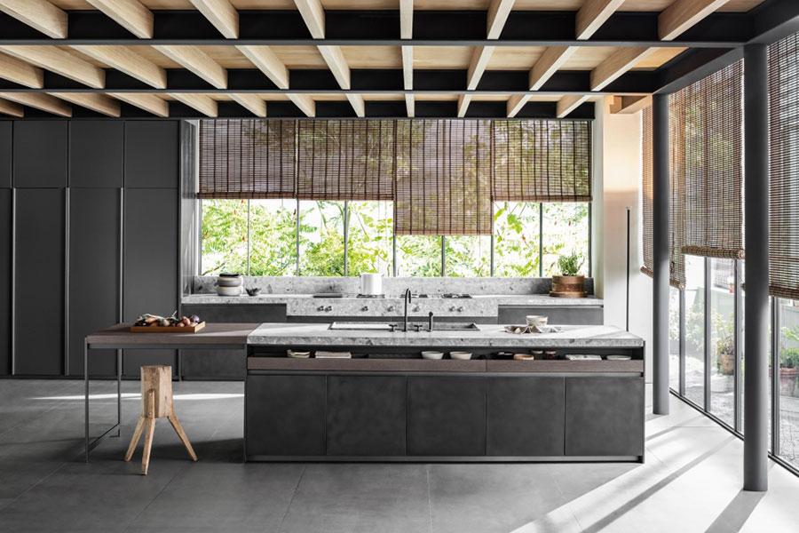 Modello di cucina lineare di design di Dada n.2