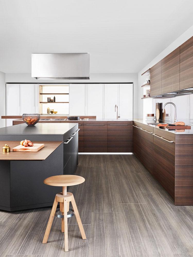 Modello di cucina lineare di design di Dada n.4