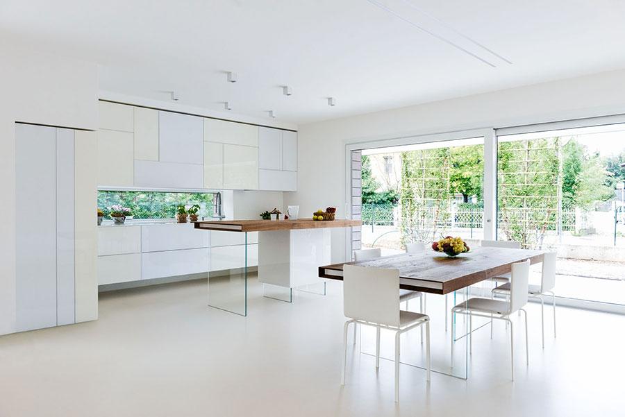 Modello di cucina lineare di design di Lago n.1