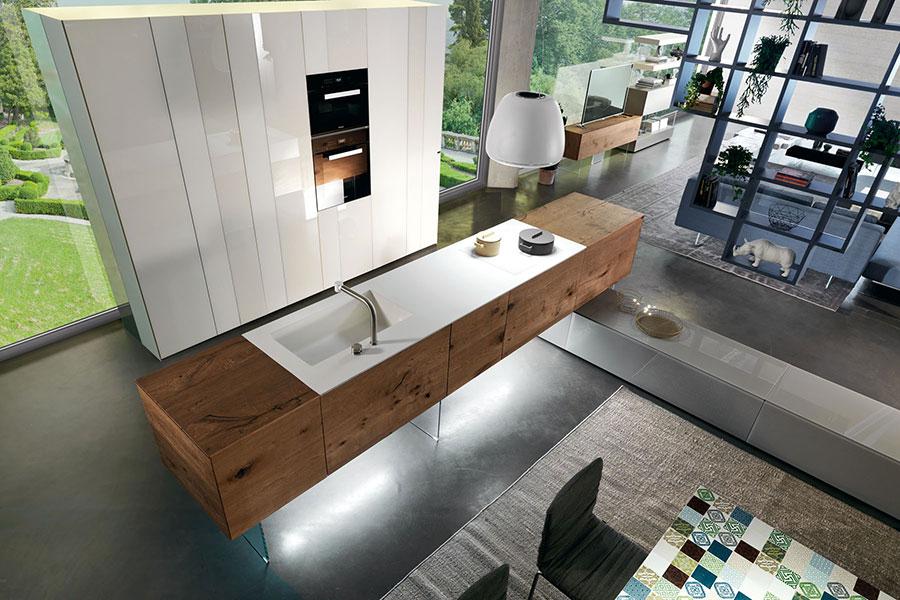 Modello di cucina lineare di design di Lago n.2