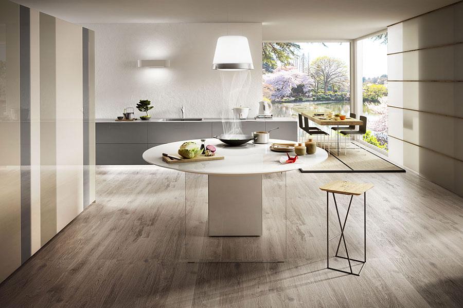 Modello di cucina lineare di design di Lago n.3