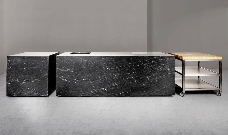 Modello di cucina lineare di design di Sio 4 n.2