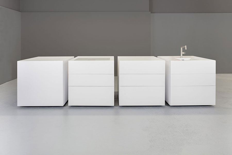 Modello di cucina lineare di design di Sio 4 n.4