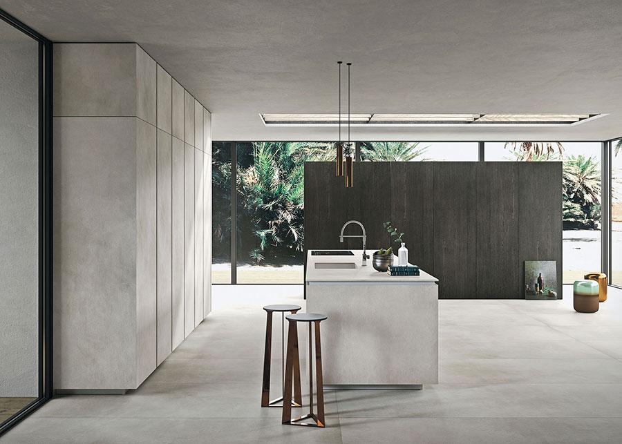 Modello di cucina lineare di design di Snaidero n.1